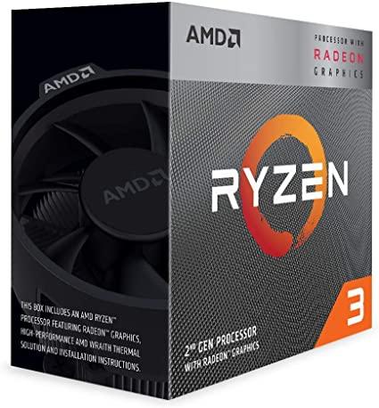 Processeur AMD Ryzen 3 3200G - 4 coeurs, 3,60 GHz, Vega 8, 4 Mo