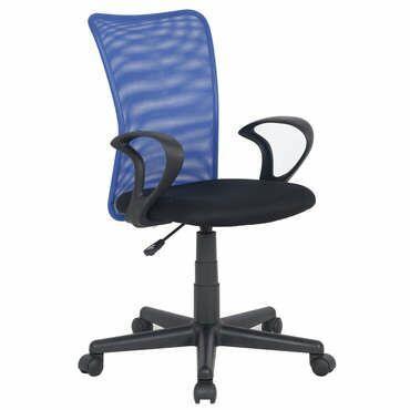 Chaise dactylo Alix coloris bleu et noir