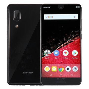 "Smartphone 5.5"" Sharp Aquos S2 (C10) - Full HD+, Snapdragon 630, RAM 4 Go, 64 Go, B20 (Noir) + Câble Micro USB BlitzWolf BW-CB8 offert"