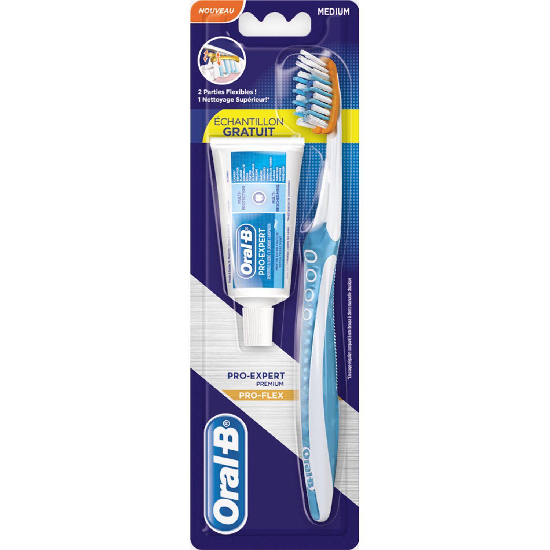 Brosse à dents Oral-B Pro Flex+ échantillon de dentifrice 100% remboursé sur la carte de fidélité