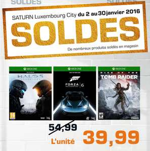 Halo 5, Forza 6 et Rise of the Tomb Raider sur Xbox One