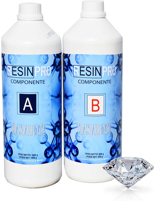 Résine époxy Ultra transparente - 1,6 kg (vendeur tiers)