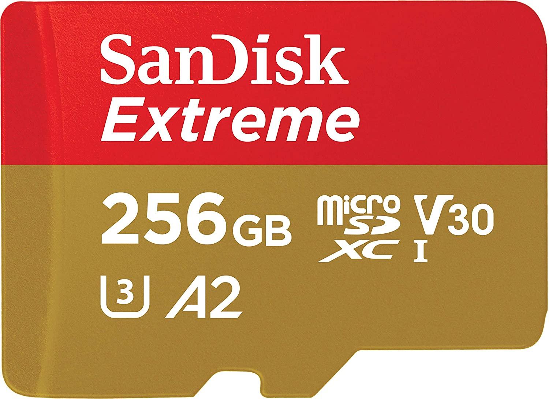 Carte microSDXC SanDisk Extreme U3 A2 - 256 Go + Adaptateur SD