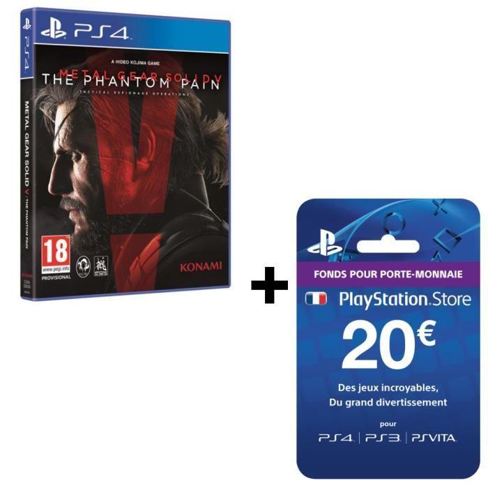 Divers packs MGS V en promotion - Ex: Metal Gear Solid V: The Phantom Pain sur PS4 + Carte PSN 20€