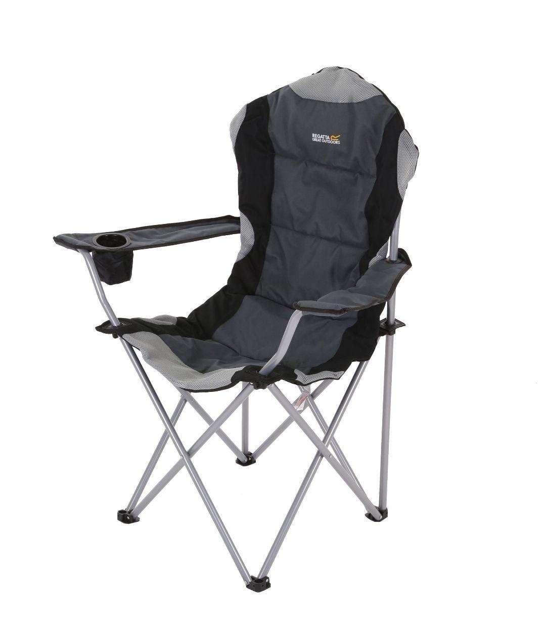 Chaise De Camping Kruza pliable et rembourrée - Noir (regatta.com)