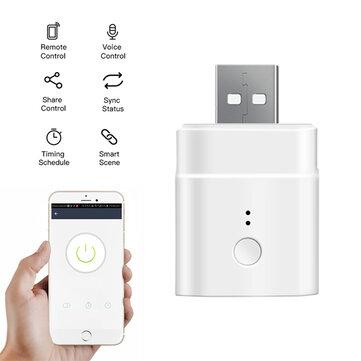 Adaptateur sans-fil 5V Sonoff USB - Programmable, Compatible Google Home et Alexa