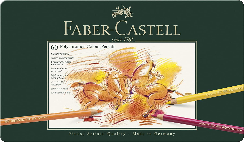 Boîte de 60 crayons Polychromos de la marque Faber-Castell