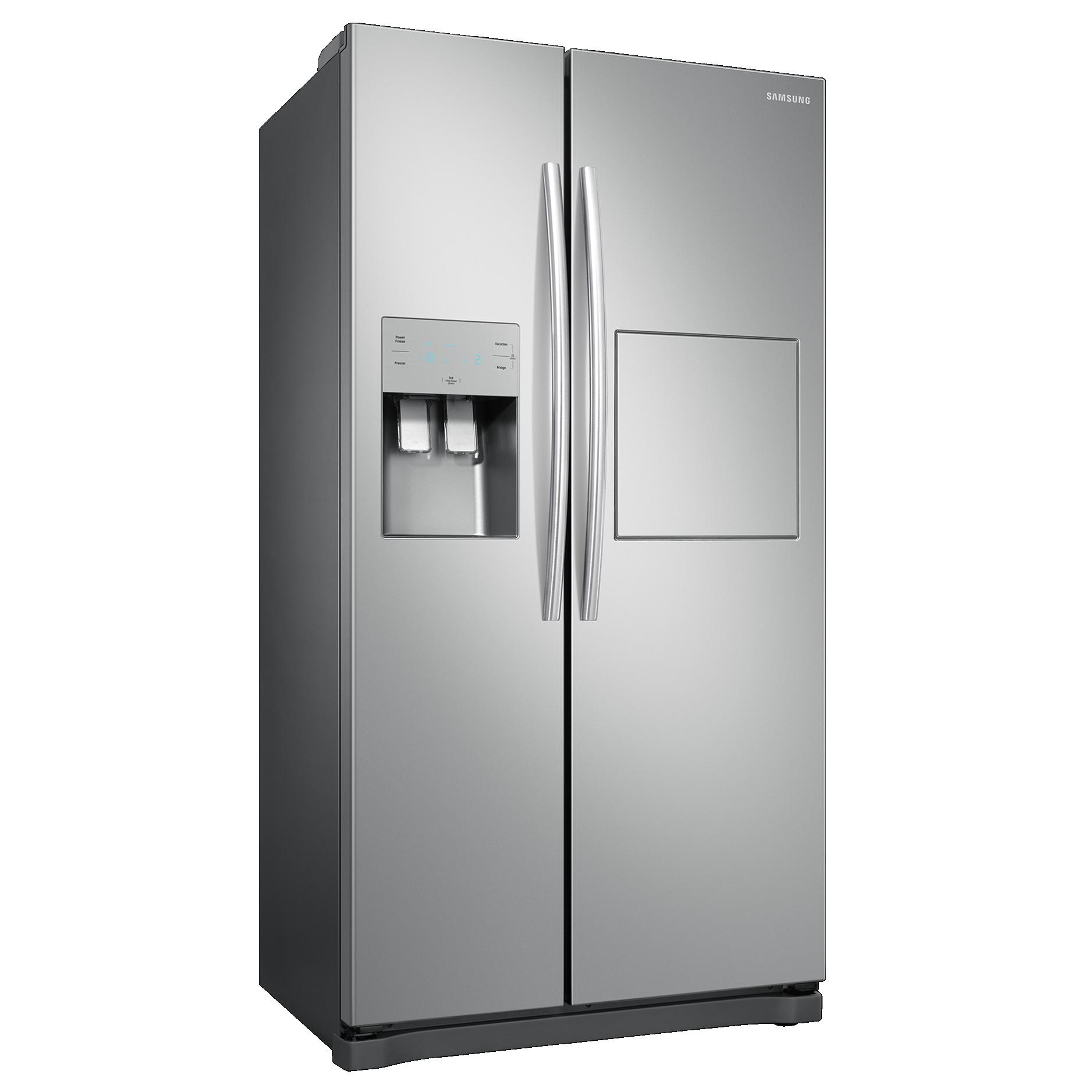 Réfrigérateur américain Samsung RS50N3803SA - 501L (357 + 144), Froid ventilé, Distributeur eau/glaçons, Home Bar, A+ (Via ODR de 80€)