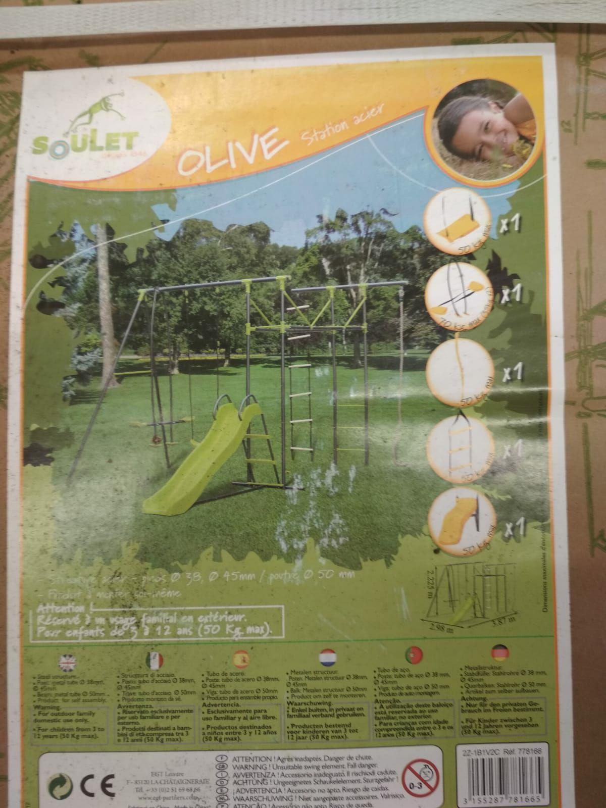 Toboggan Soulet/EGT Acier - Couleur olive + 5 Accessoires (Via 149.40€ sur la Carte de Fidélité) - Avrillé (49)