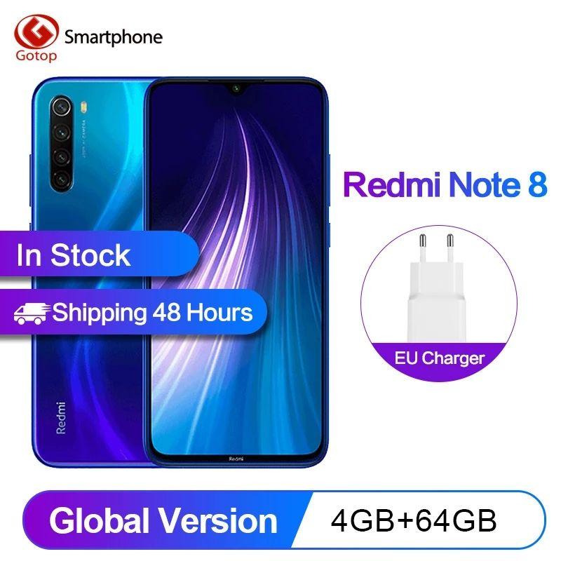"Smartphone 6.3"" Xiaomi Redmi Note 8 - 64 Go ROM, 4 Go RAM"