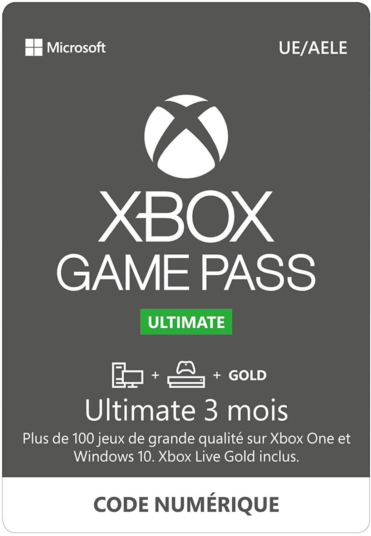 Abonnement Xbox Game Pass Ultimate - 3 mois (Dématérialisé)