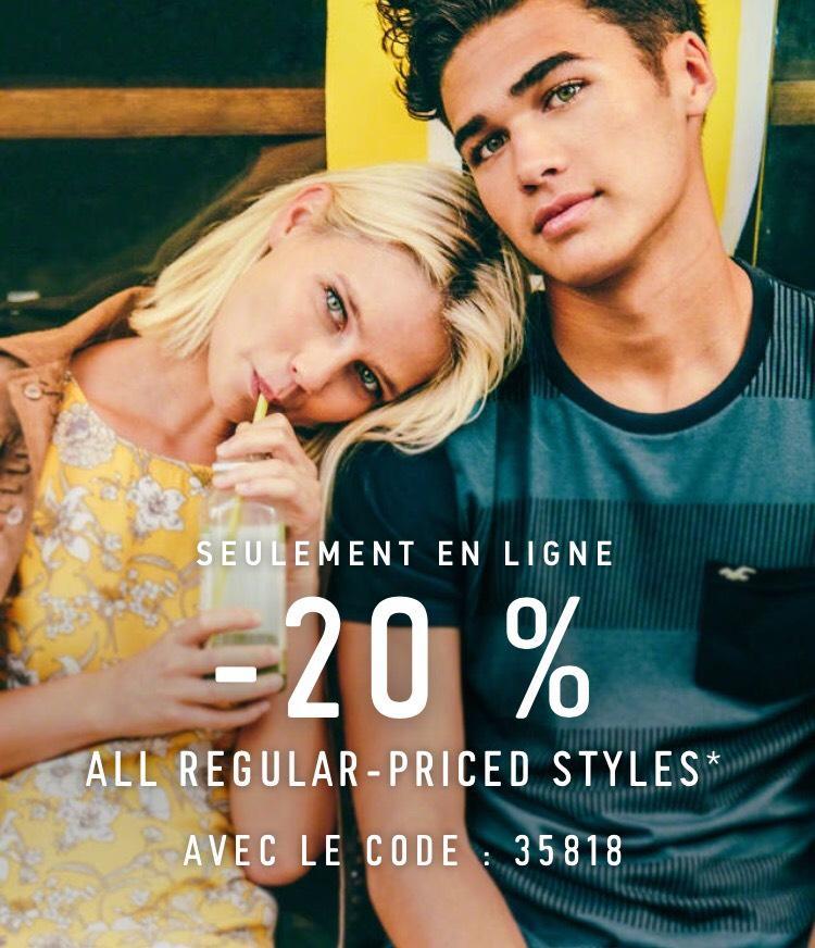 20% de réduction sur les articles non soldés