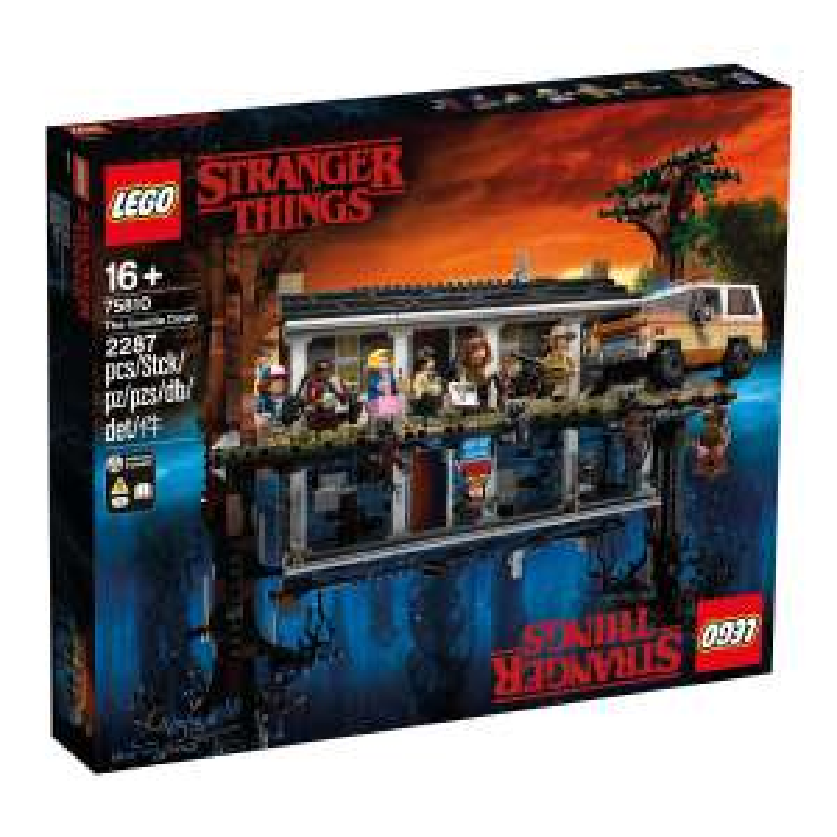 Lego Stranger Things La Maison dans le Monde à l'envers - 75810
