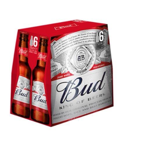 Pack de 6 bières Bud - 6 x 25cl (Via ODR 1.50€)