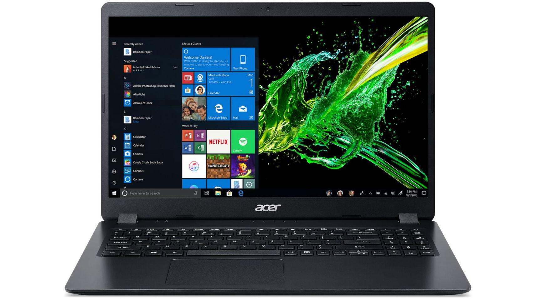 PC Portable Acer Aspire A315-54K-3469 - HD, i3-7020U, 8 Go RAM, 128 Go SSD + 1 To HDD, Windows 10