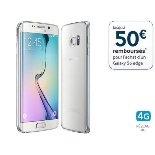 """Smartphone 5.1"""" Samsung Galaxy S6 Edge - 32Go (via ODR de 50€)"""