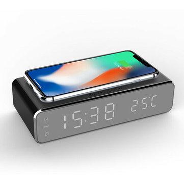 Réveil Chargeur téléphone sans fil LED