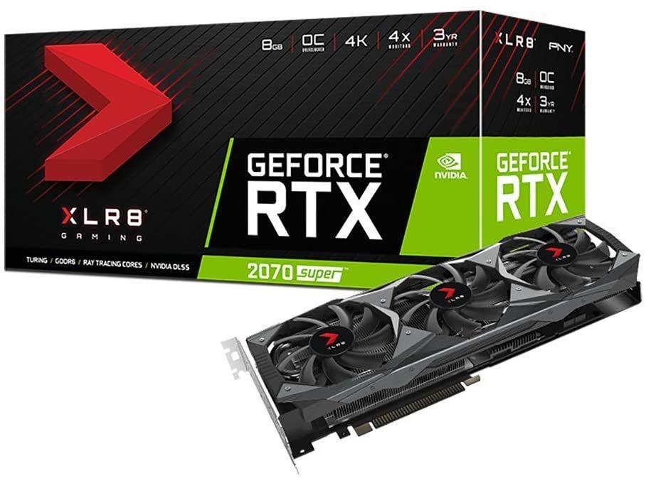 Carte Graphique PNY GeForce Rtx 2070 SuperTM Triple Fan XLR8 OC