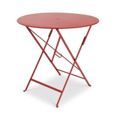 15% de réduction sur la gamme Fermob Bistro - Ex : Table de jardin en métal Bistro - Rouge