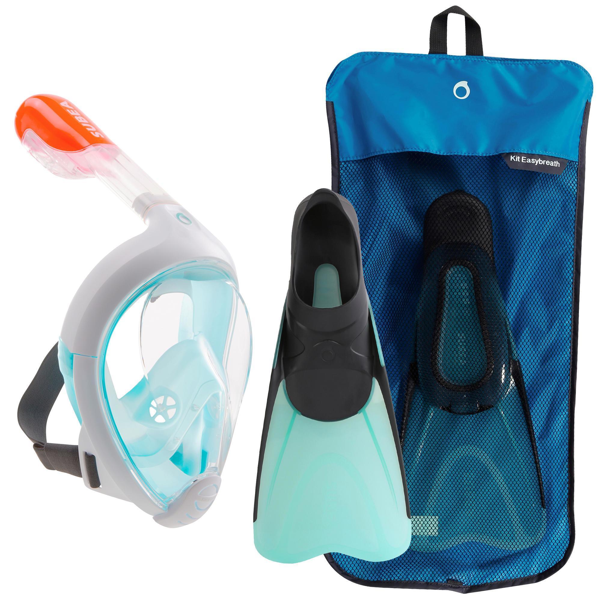Kit de Snorkeling: Masque Easybreath + Palmes