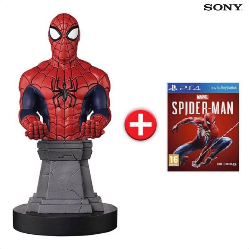 "Spider-Man sur PS4 + Support de manette & recharge ""Câble Guy"" Spider-Man"