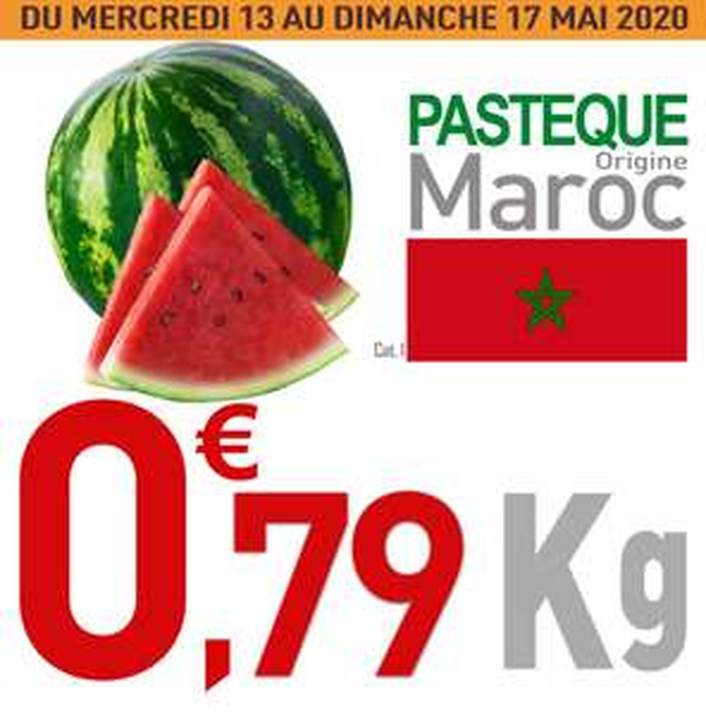 Pastèque - Le Kg (Origine Maroc)