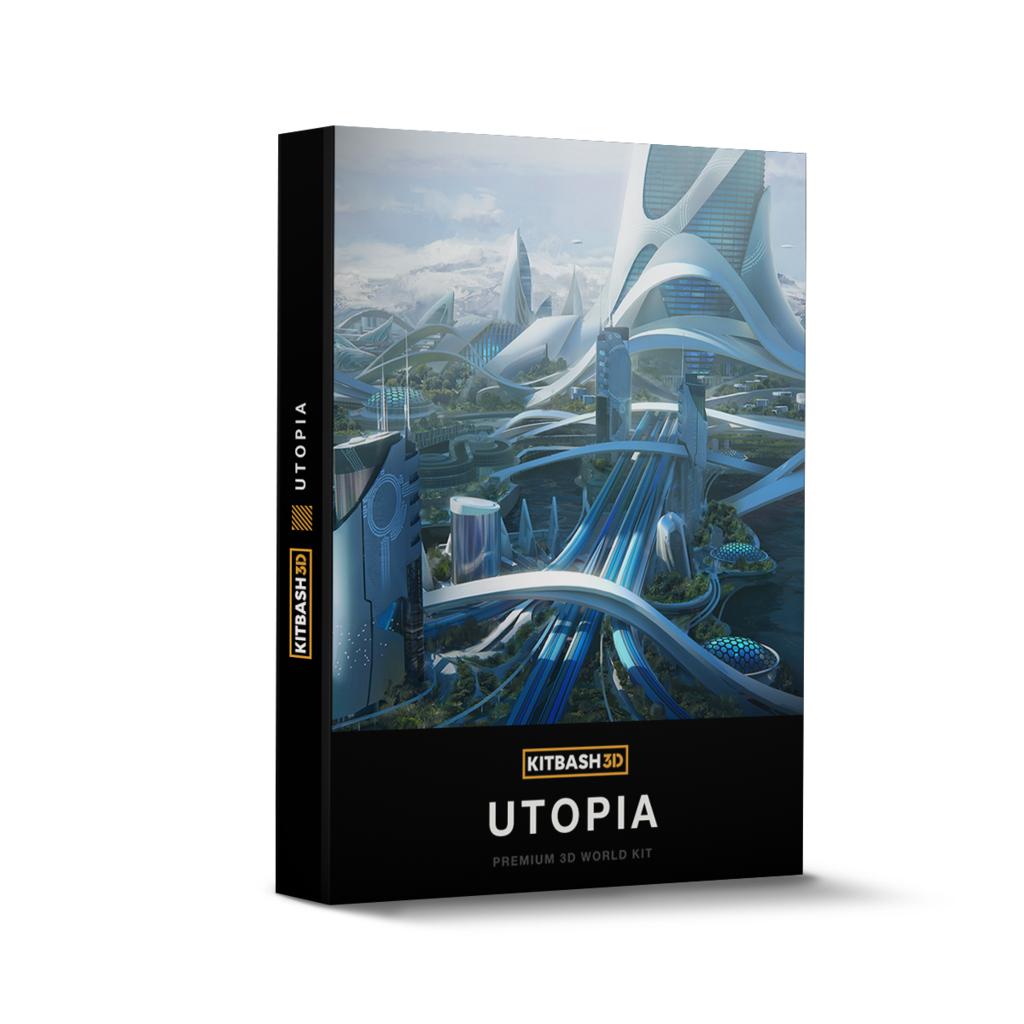 Licence à vie au logiciel Utopia Premium 3D World Kit gratuite (Dématérialisé) - kitbash3d.com