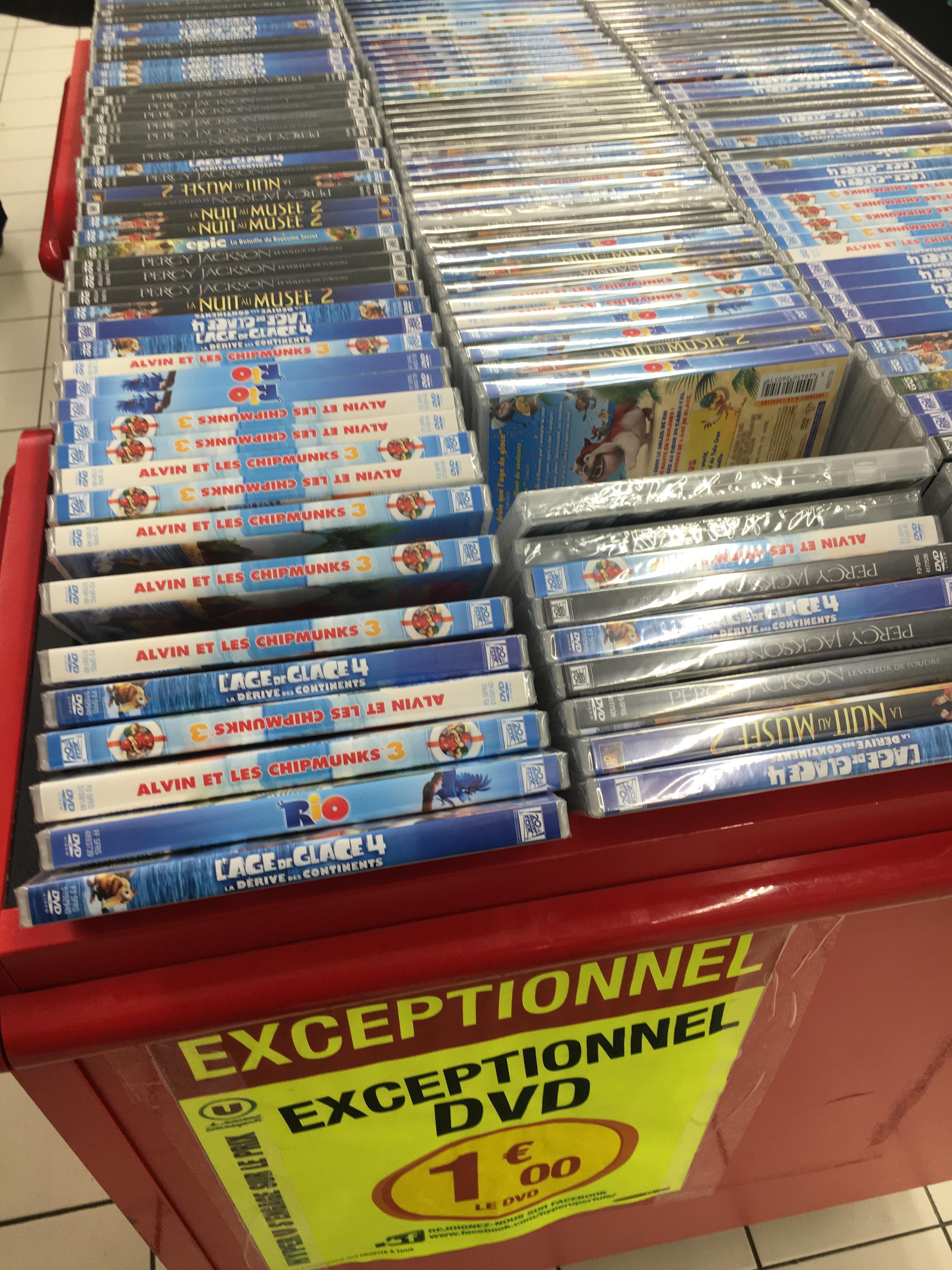 Sélection de DVD (Rio, l'Age de Glace 4, Alvin et les Chimpmunks...)