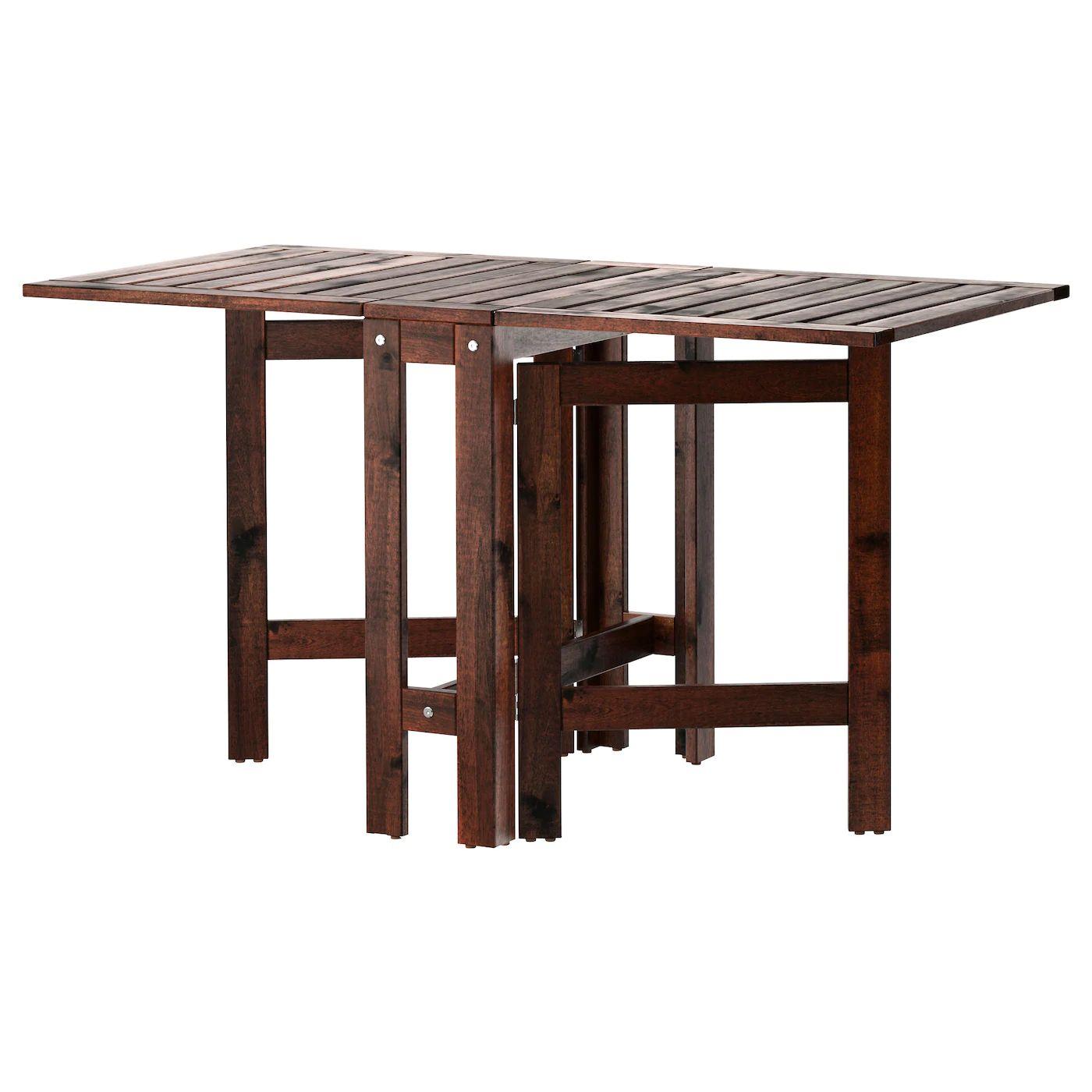 [Ikéa Family] Table pliante d'extérieur Äpplarö - Teintée brun, 20/77/133x62cm