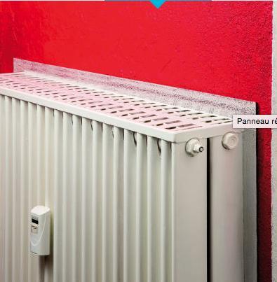 panneau r flecteur de chaleur pour radiateur. Black Bedroom Furniture Sets. Home Design Ideas