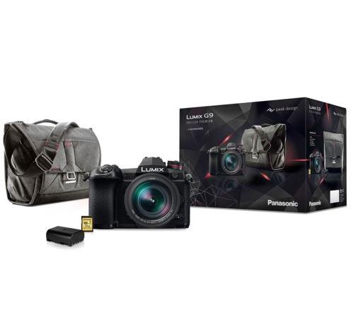 Appareil photo Hybride Pro Lumix G9 + Objectif Leica 12-60 mm f/2.8-4.0 + Sac Peak Design + Deuxième batterie + Carte SD 32Go