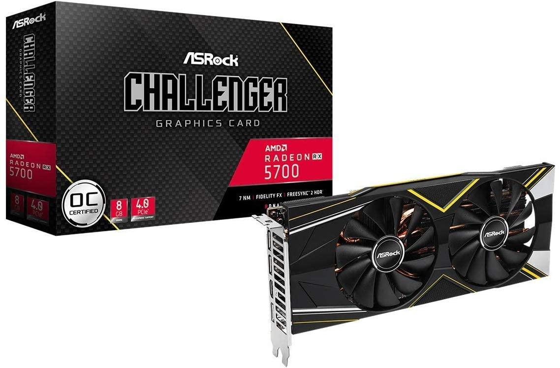 Carte Graphique ASRock Radeon RX 5700 Challenger (8 Go) + 2 jeux + 3 mois d'abonnement au Xbox Game Pass pour PC