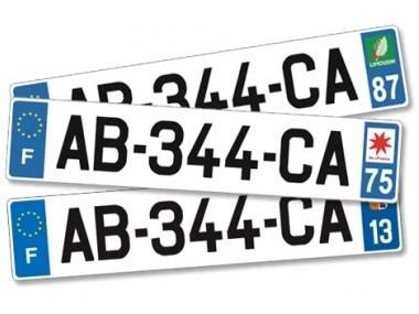 Plaque d'immatriculation voiture en Plexiglas personnalisable