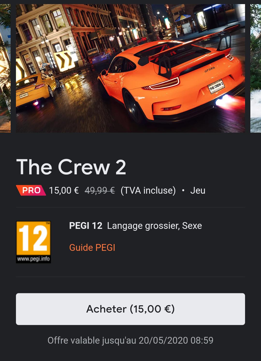 [Google Stadia Pro] The Crew 2 sur Google Stradia (Dématérialisé)