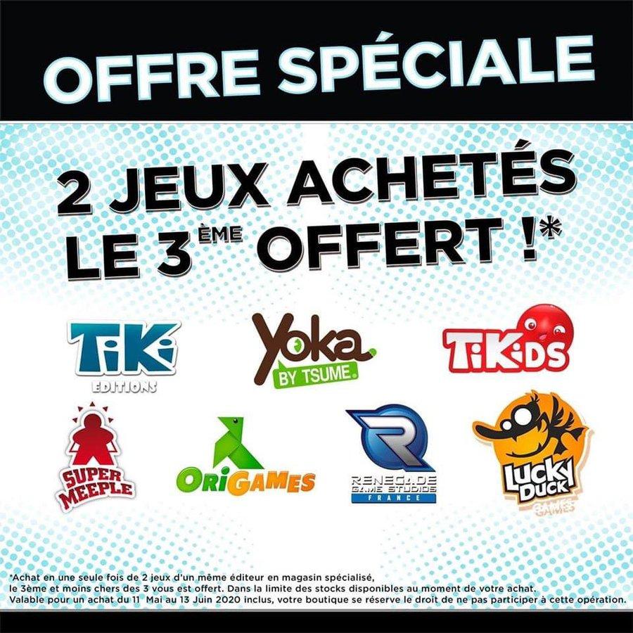 2 Jeux de société achetés parmi une sélection = le 3ème offert (milleetunjeux.fr)
