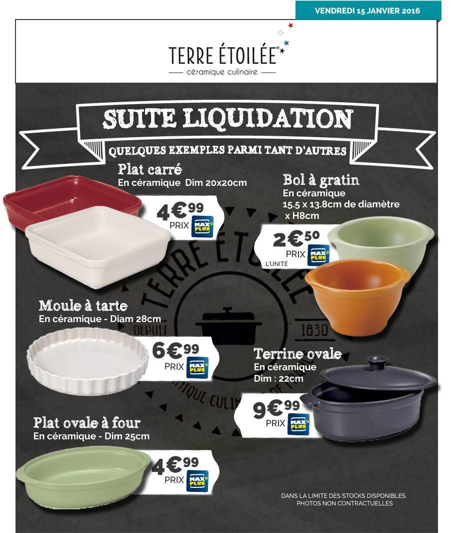 Sélection de plats céramiques en promotion - Ex : Plat Ovale Terre Etoilée