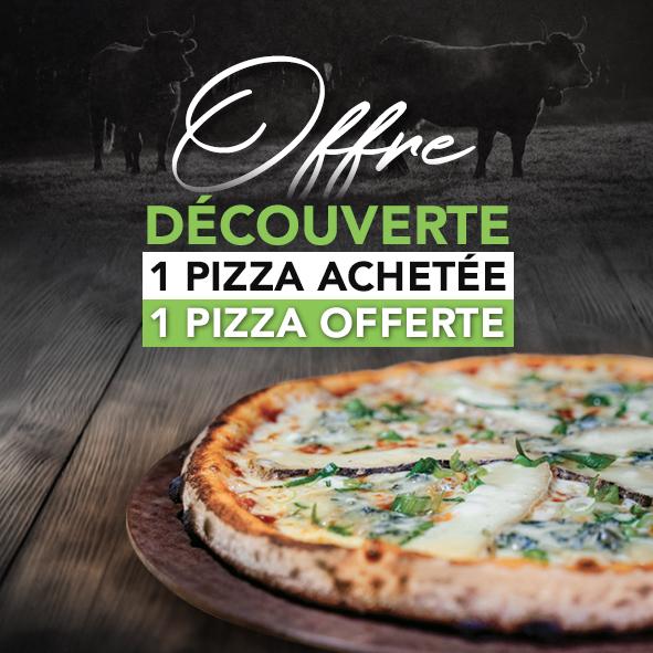 1 pizza achetée = 1 pizza 26cm offerte (parmi une sélection de restaurants Basilic & Co)