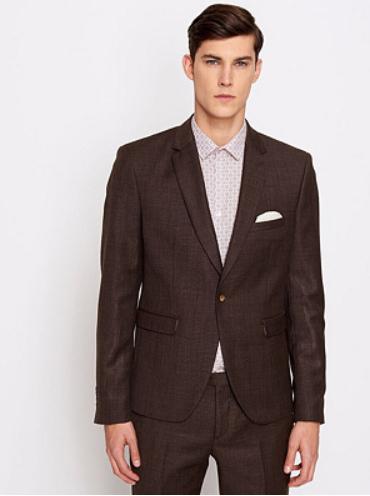 Sélection de vestes Devred en promotion - Ex: Veste de costume - 100% laine, marron