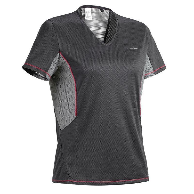 T-shirt femme manches courtes Quechua Forclaz 100 - Noir (Taille L)