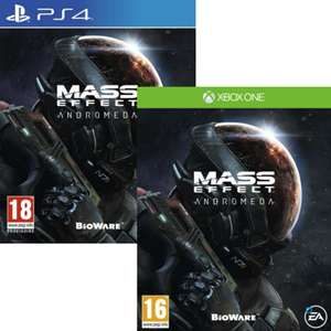 Mass Effect Andromeda sur Xbox One ou PS4 (vendeur tiers)