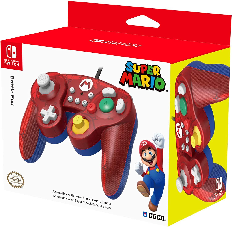 Manette filaire Hori Smash Bros pour Nintendo Switch - Mario