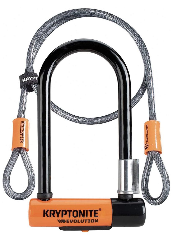 Antivol U Kryptonite Evolution Mini-7 U-Lock (2018) + Câble Flex 4'