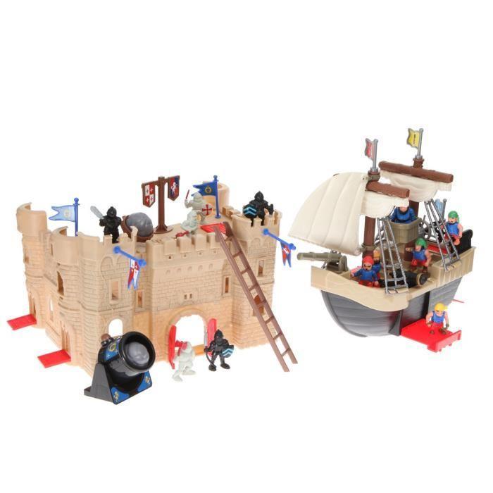 Jouet Redbox - Super château et pirates + 40 accessoires