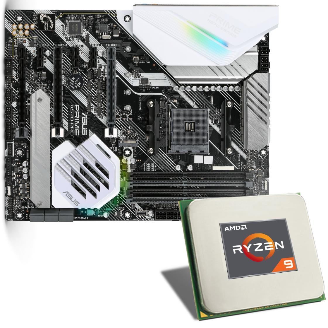 Pack processeur Ryzen 9 3900X + Carte mère Asus Prime X570-PRO