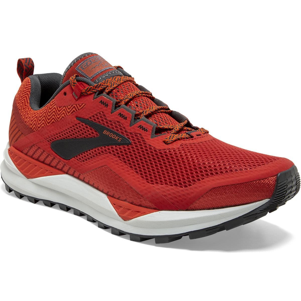 Chaussures de Trail Brooks Cascadia 14 (2020) - Red/Ebony/Grey, du 40 au 47 1/2