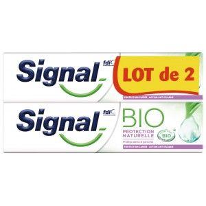 Lot de 2 dentifrices Bio Signal protection naturelle - 2X75ml (Via 3.57€ sur la carte fidélité)