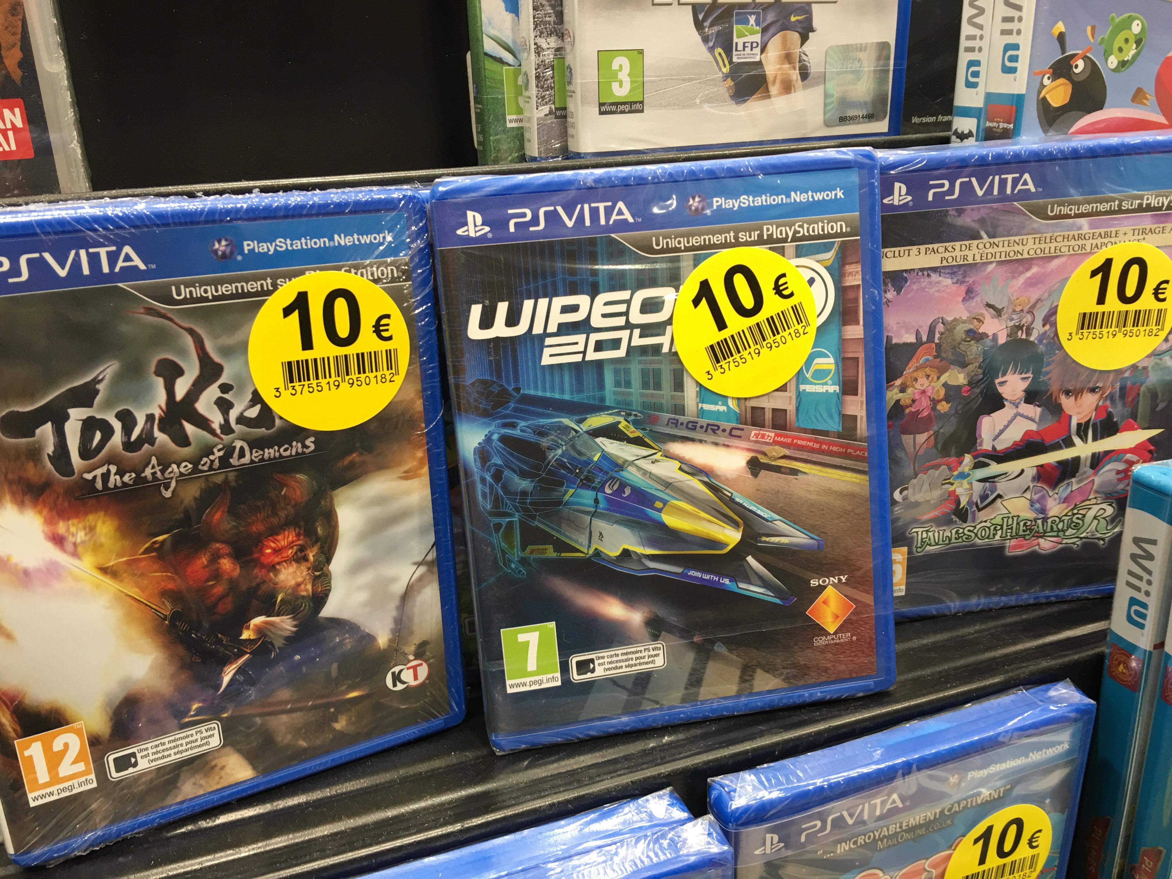 Sélection de jeux vidéos (3DS, PS Vita, PS4) - Ex : Jeu Wipeout 2048 sur PS Vita