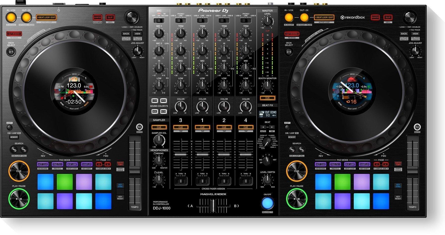 Controleur DJ Pioneer DDJ 1000 + Micro Lewitz C100 USB