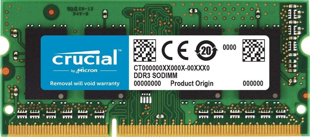 Barrette Mémoire DDR3 So.Dimm Crucial CT51264BF160BJ 4 Go (1 x 4 Go) - 1600 MHz, CL11 (Vendeur Tiers)