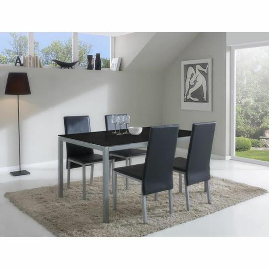 Ensemble table à manger + 4 chaises Sollana